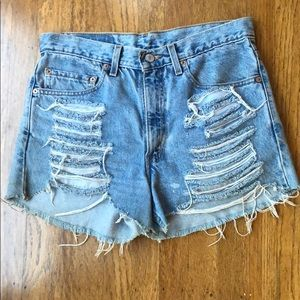 Vintage Levis Distressed Jean High Rise Shorts